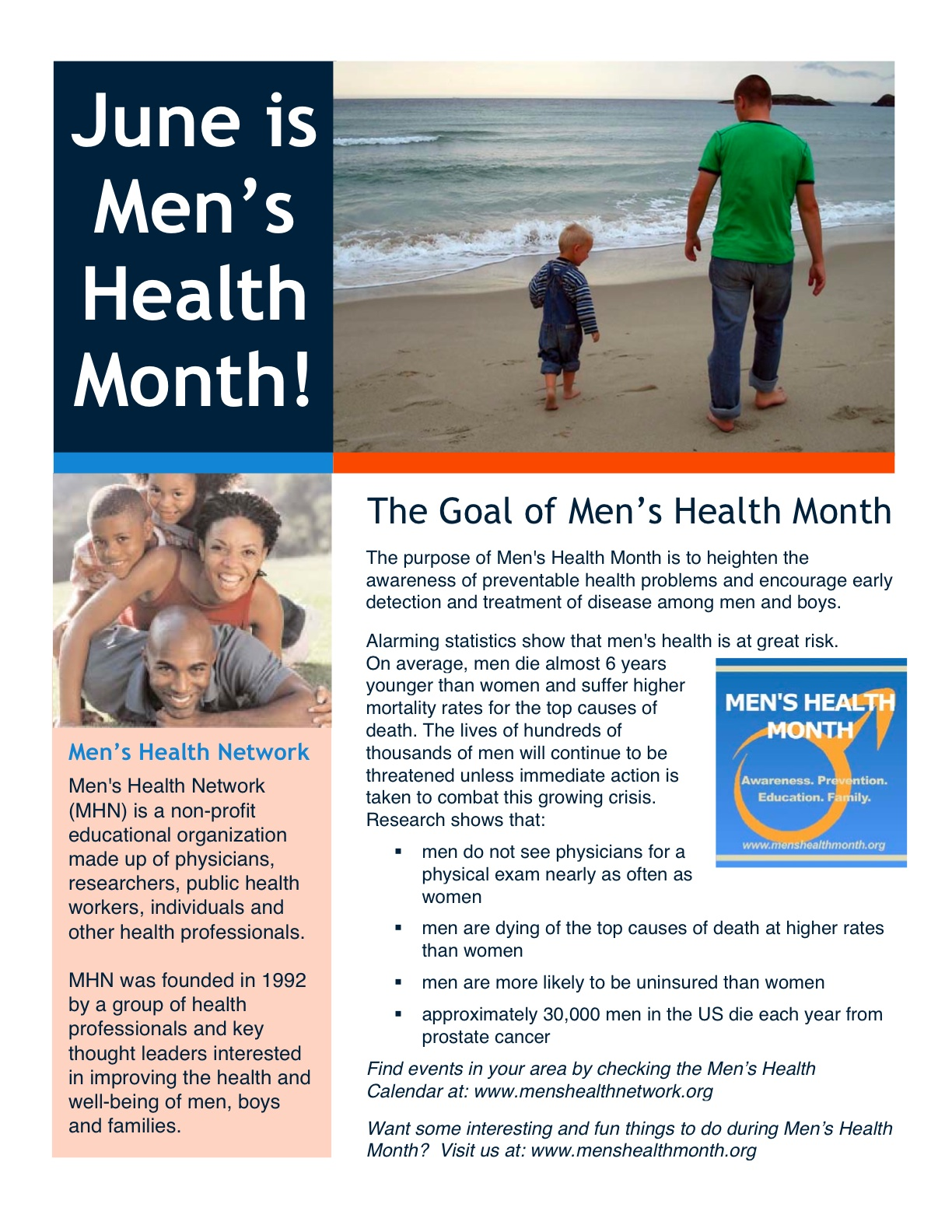 June 9-15 is Men's Health Week!