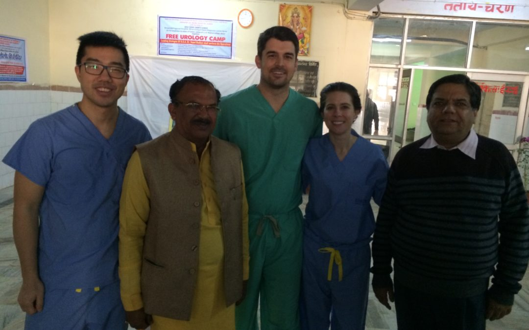 Resident Scholars, Dr. Huang and Dr. Peyton, Report on India Urology Camp
