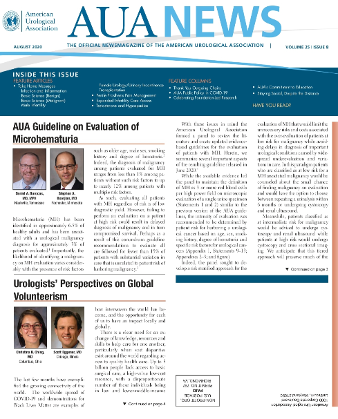 AUA News Features IVU's Work